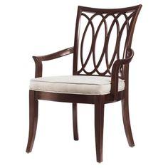 Stanley Hudson Street Dark Espresso Oval Back Arm Chair ST-712-11-70 $559.00