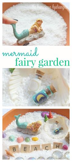 This mermaid fairy garden is the best of both worlds! See how simple it can be to make your own mermaid fairy garden, perfect for the spring season.
