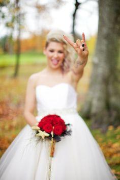 Christmas Wedding Rock and Roll Shoot