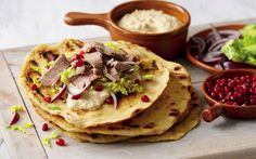 Look at this recipe - Turkish Lamb Flatbreads - and other tasty dishes on Food Network. Lamb Flatbread Recipes, Lamb Flatbreads, Savoury Recipes, Food Network Uk, Food Network Recipes, Turkish Lamb, Aldi Recipes, Budget Recipes, Aldi Meal Plan