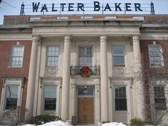 Former Factory of [Walter] Baker's Chocolate - Lower Mills (Boston), MA, USA Ma Usa, Bakers Chocolate, Walter Baker, Factories, New England, Cocoa, Boston, Restaurant, Mansions