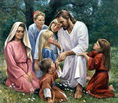 jesus with children Jesus Is Risen, Jesus Loves Us, Jesus Lives, Jesus Is Lord, Lds Pictures, Pictures Of Jesus Christ, Heaven Pictures, Image Jesus, Lds Art