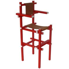 Gerrit Rietveld Rare Children's High Chair by Gerard van de Groenekan 1