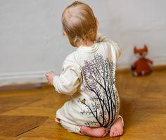Overalls - Pyjama Erle mit Elster (74-104) - ein Designerstück von Cmig bei DaWanda