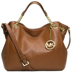 MICHAEL KORS Jet Set medium leather shoulder bag found on Polyvore