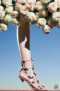 Spring has sprung with Manolo Blahnik. Step into the ultimate pair of caged sandals for your next Tuesday Shoesday.