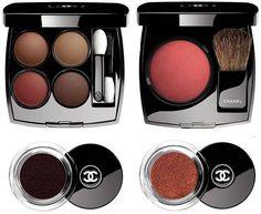 Chanel Le Rouge Fall 2016 Makeup Collection ( Les 4 Ombres № 268 Candeur et Expérience, Blush - Rouge Profond, Illusion D'Ombre Velvet - • 128 Rouge Brulé, • 132 Rouge Contraste)