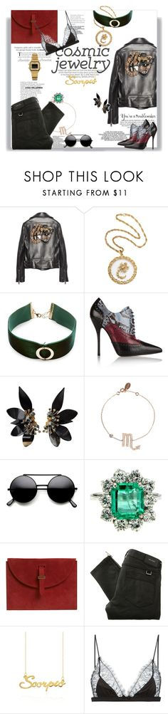 """She's of the Scorpio"" by railda-pereira ❤ liked on Polyvore featuring Kershaw, Gucci, H&M, Design Lab, The Damned, Marni, Belstaff, Belk & Co., Maison Close and Casio"