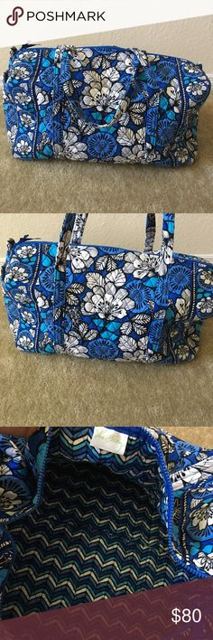 Large Vera Bradley Duffel Beautiful blue patterned Vera Bradley duffel in excellent condition. Perfect bag for traveling. Vera Bradley Bags Travel Bags