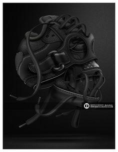 Marcelo Schultz on Behance #nike #sneakers #skull