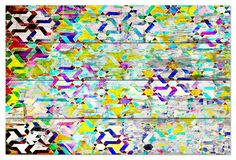 Art - Safi - Reclaimed Barn Wood - Bright color and geometric pattern