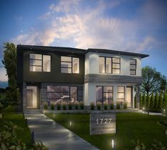 Beyond Homes http://www.beyondhomes.ca/ together with BBLOC http://www.bbloc.ca/ have designed b95, a project consisting of two semi-detached units in Calgary, Canada. (Click on photo for high-res. image.)