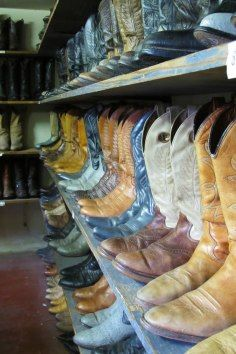 The Texas Junk Company is where you get awesome cowboy boots to remember your Houston, Texas vacation!