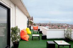 Rooftop terrace in Brussels