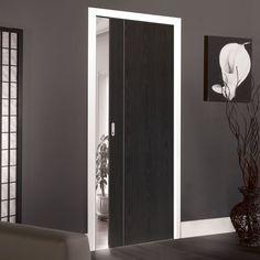 Single Pocket Eco Argento Ash Grey sliding door system in three sizes. #pocketdoor #interanlslidingdoor #modernpocketdoor