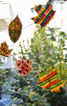 Amo l'autunno, ho imparato ad amarlo da quando mi son trasferita all'estero, dove i paesaggi si incendiano davvero, e le strade diventano tappeti di foglie soffici, che ci riportano a t… Leaf Art, Cool Designs, Arts And Crafts, Leaves, Nature, Craft Ideas, Kids, Art, Young Children