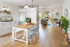 Kitchen Design, House Design, Flooring, Table, House Decorations, Furniture, Home Decor, Ideas, Salons