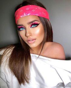 Makeup Eye Looks, Beautiful Eye Makeup, Eye Makeup Art, Glam Makeup, Party Makeup, Eyeshadow Makeup, Hair Makeup, Creative Eye Makeup, Colorful Eye Makeup