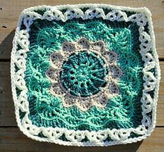 """Pizzazz - 12"""" Square by Melinda Miller - Free crochet pattern - Granny Square"""