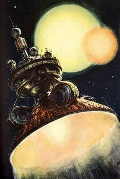 "M. Vasiljev ""Travel to Space"", Russia 1958"