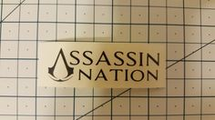 Assassin's Creed  Assassin Nation Decal  16 colors  by RidinNerdy