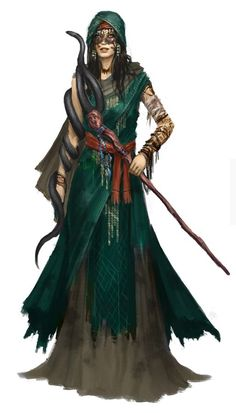 Female human druid of the Shadow Marches
