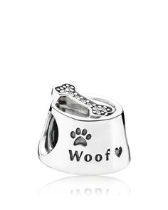 Pandora Charm - Sterling Silver Woof, Moments Collection