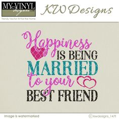 DIGITAL DOWNLOAD ... Wedding/Love Vector in AI, EPS, GSD, & SVG formats @ My Vinyl Designer #myvinyldesigner #kwdesigns