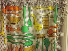 Vintage Kitchen Curtain Panels Mid Century by sweetlynetreasures, $15.00