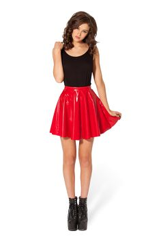 PVC Red Skater Skirt - LIMITED by Black Milk Clothing ($60AUD)