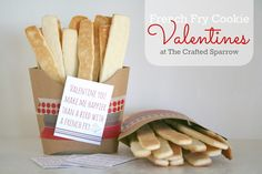 The Crafted Sparrow: French Fry Cookie Valentines