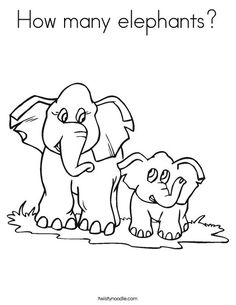 How Many Elephants Coloring Page