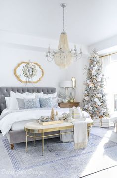 Christmas bedrooms decorated tree