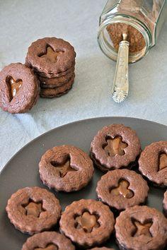 biscotti al cioccolato con dulce de leche