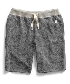 Cut Off Gym Shorts in Salt and Pepper by Todd Snyder
