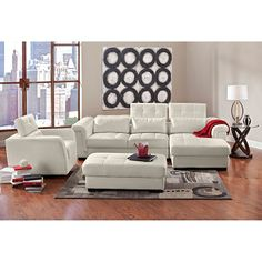 Love This Living Room Giorgio Leather Collection Value City Furniture Sofa Home