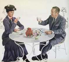Mary Poppins and Walt Disney.   Oh my too much!