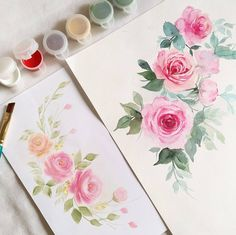1,897 vind-ik-leuks, 24 reacties - Esther Peck (@estherpeck) op Instagram: 'Acrylic roses vs watercolour roses, which do you prefer? For Acrylic Rose Workshop, join me on 4/8…'