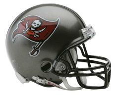 NFL Tampa Bay Buccaneers Replica Mini Football Helmet by Riddell. $19.99. The NFL® replica mini helmet from Riddell® is an approximate 1/2-scale version of the standard team helmet. This officially licensed mini helmet is made with an ABS plastic shell, face mask, realistic jaw pads and a chin strap. The helmet design is taken from actual uniform type faces and displays the team decals on the shell, which is great for getting autographs from your favorite athletes.