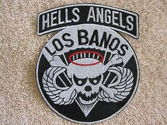 """US 503rd Infanrty Airborne """"HELLS ANGELS LOS BANAOS"""" Skull Airborne Wings Patch"""