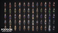 Персонажи Fantasy от POLYGON от Synty Studios в персонажах - UE4 Marketplace