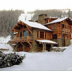 Winter at the cabin.