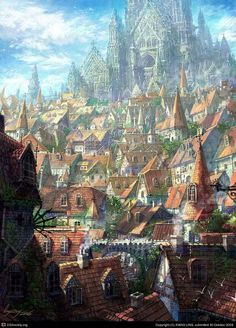 Home Discover A fantasy cityscape by Xiang Ling Fantasy City Fantasy Castle Fantasy Places Medieval Fantasy Fantasy World Fantasy Village High Fantasy Fantasy Concept Art Fantasy Artwork Fantasy Kunst, Fantasy City, Fantasy Castle, Fantasy Places, High Fantasy, Medieval Fantasy, Fantasy World, Fantasy Village, Anime Fantasy