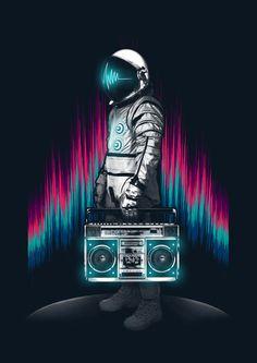 boomblaster Art Print by Steven Toang
