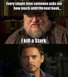 Iron Man could totally take on a villainous author...