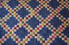 I would like to share a beautiful Double Irish Chain quilt I recently finished quilting for my customer Ann.  Ann's quilt was made with 1 i...