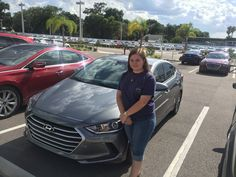 """Briana Nussell purchased a brand new 2017 Hyundai Elantra with the help of salesman Billy Atshan! """"I had a great experience with salesman Billy!"""" Thank you Ms. Nussell, it was a pleasure doing business with you! We hope that you are enjoying your new Hyundai and please; if there is anything that we can do, do not hesitate to ask… We are here to help! #LakelandAutomall #LakelandHyundai #2017Elantra #HyundaiElantra #Hyundai"""