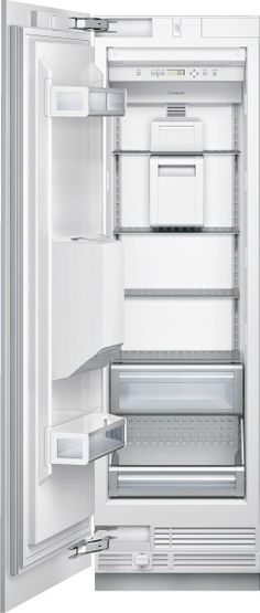 Thermador Built-in Fully Flush Freezer Column with 12 cu. Capacity, External Ice/Water Dispenser, LED Sidewall Theater Lighting, Full Extension Drawers and Accepts Custom Panels Upright Freezer, Barn Kitchen, Steel Panels, Water Dispenser, Kitchen Cabinetry, Energy Star, Interior Lighting, Home Depot, Bathroom Medicine Cabinet