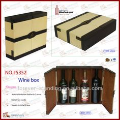 Luxury Faux Leather Wine Case for 3 bottles(5352), View Wine Case, Wine Package Product Details from Forever Standing Stationery Co., Ltd. on Alibaba.com