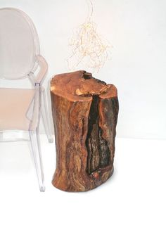 Apple Stump Pedestal Table Display Stand Bedside by realwoodworks1, $680.00